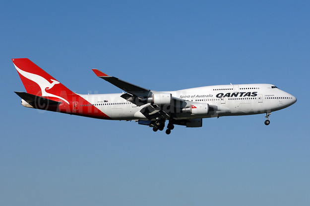 QANTAS Airways Boeing 747-438 ER VH-OEI (msn 32913) JFK (TMK Photography). Image: 936240.