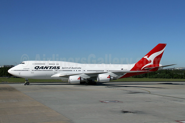QANTAS Airways Boeing 747-438 ER VH-OEJ (msn 32914) BNE (Peter Gates). Image: 908305.