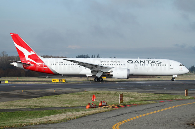 "QANTAS' second Boeing 787-9 Dreamliner, named ""Waltzing Matilda"""