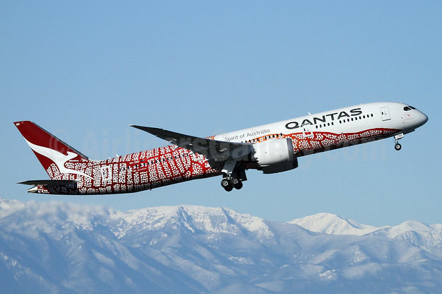 "QANTAS' 2018 ""Yam Dreaming"" Aboriginal Design, delivered on February 28, 2018"
