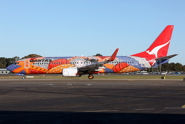 "QANTAS Airways' 2002 ""Yananyi Dreaming"" Aboriginal livery"