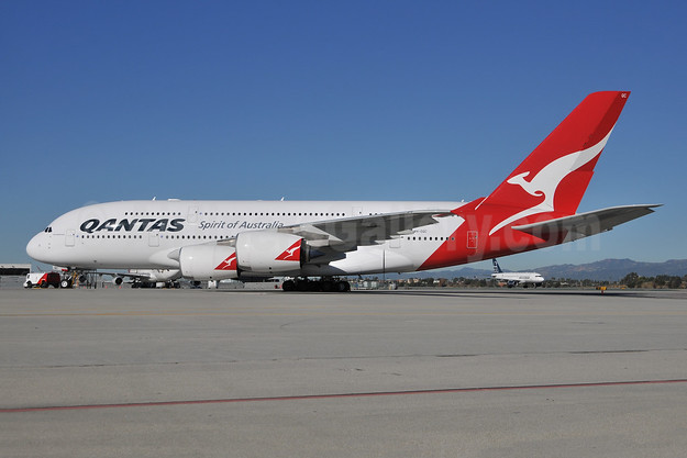 QANTAS Airways Airbus A380-842 VH-OQC (msn 022) LAX (Ton Jochems). Image: 955608.