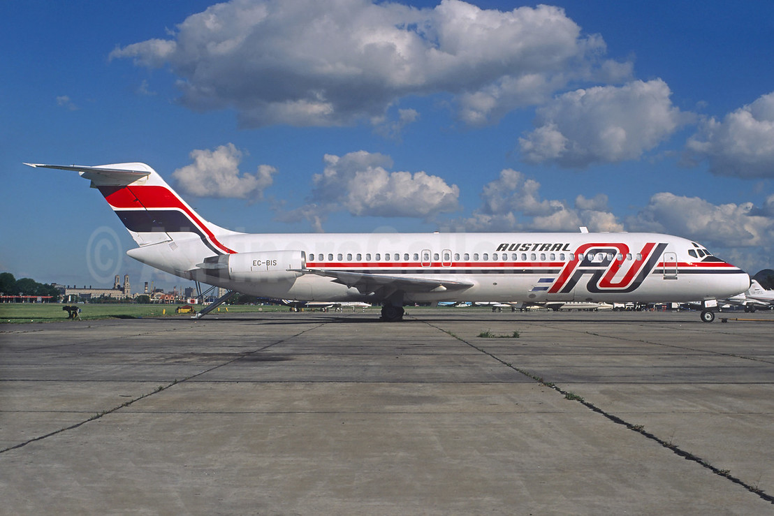 Austral Lineas Aereas McDonnell Douglas DC-9-32 EC-BIS (LV-WIS) (msn 47312) AEP (Christian Volpati). Image: 934227.