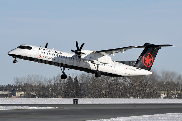 Air Canada Express-Jazz Aviation Bombardier DHC-8-402 (Q400) C-GJZK (msn 4499) YYC (Chris Sands). Image: 946862.