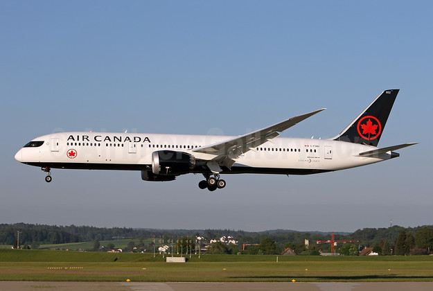 Air Canada Boeing 787-9 Dreamliner C-FSBV (msn 37182) ZRH (Andi Hiltl). Image: 942268.