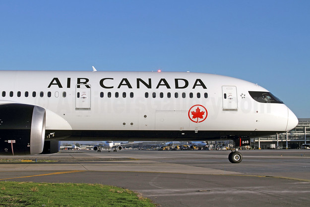 Air Canada Boeing 787-9 Dreamliner C-FRSR (msn 37178) SCL (Alvaro Romero). Image: 938302.