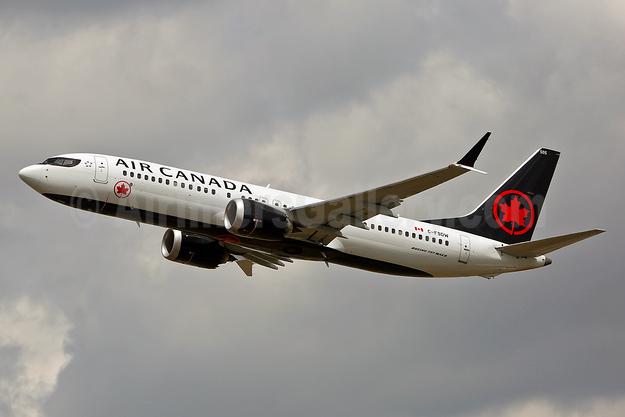 Air Canada Boeing 737-8 MAX 8 C-FSDW (msn 61212) LHR (Keith Burton). Image: 943587.