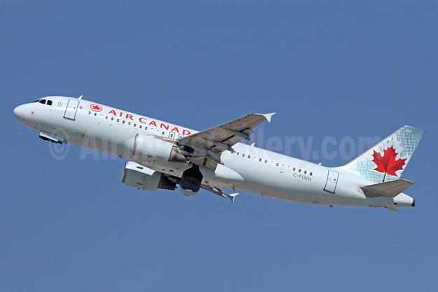 Air Canada Airbus A320-214 C-FGKH (msn 1975) LAX (Michael B. Ing). Image: 940090.