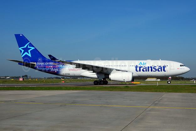 Air Transat Airbus A330-243 C-GTSN (msn 369) AMS (Ton Jochems). Image: 910699.