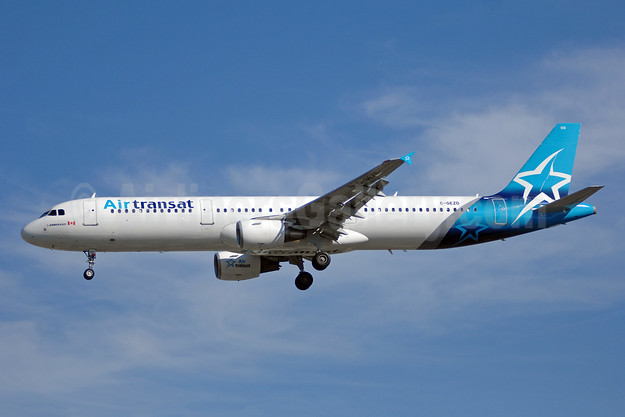 Air Transat's first Airbus A321, delivered on April 12, 2018