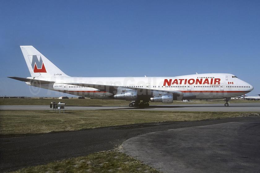 Nationair Canada Boeing 747-1D1 C-FFUN (msn 20305) YYC (Christian Volpati Collection). Image: 937351.