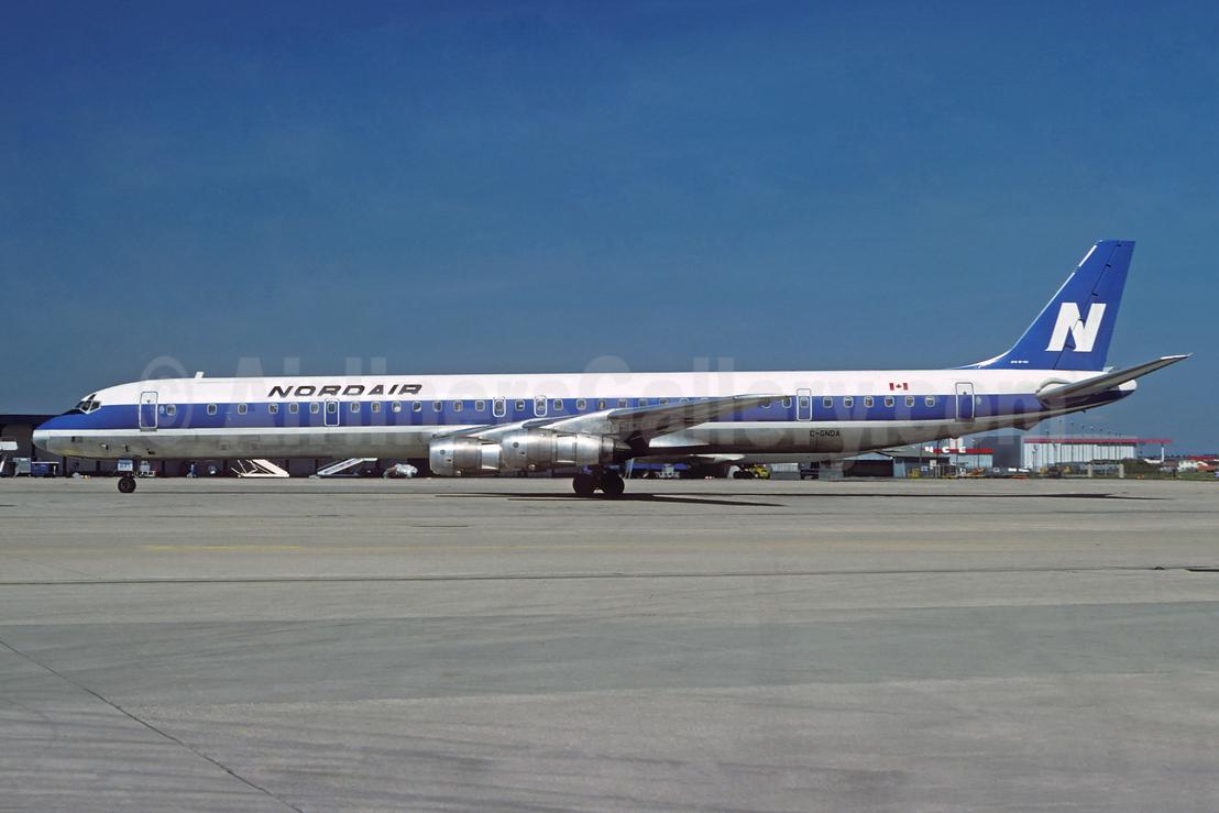 Nordair McDonnell Douglas DC-8-61CF C-GNDA (msn 45902) ORY (Jacques Guillem). Image: 931992.