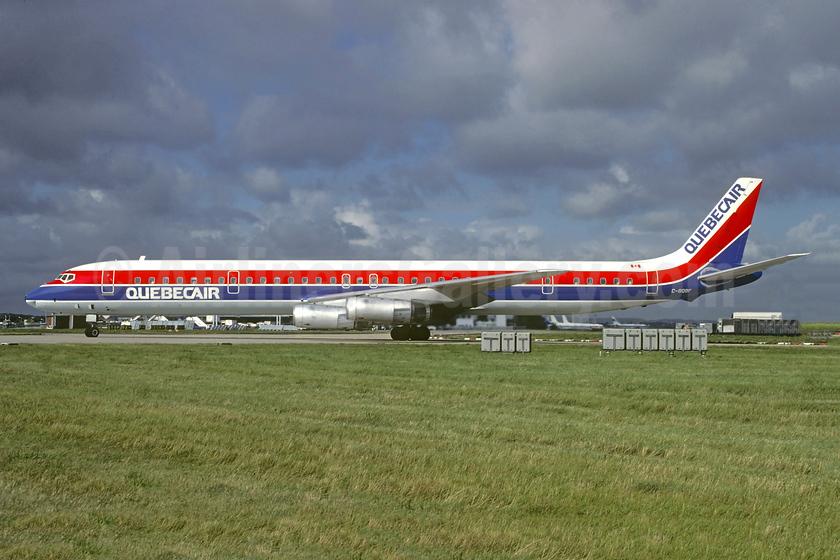 Quebecair McDonnell Douglas DC-8-63 C-GQBF (msn 46116) ORY (Jacques Guillem). Image: 952984.