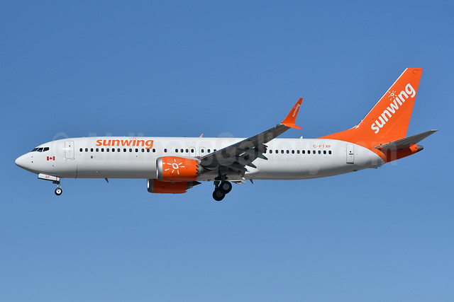 Sunwing Airlines Boeing 737-8 MAX 8 C-FMXF (msn 43303) YYZ (TMK Photography). Image: 953158.