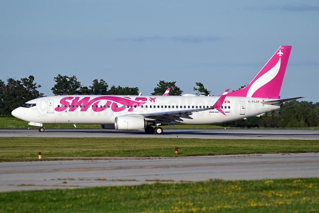 Swoop (WestJet) Boeing 737-8CT SSWL C-FLSF (msn 40838) YHM (TMK Photography). Image: 948534.