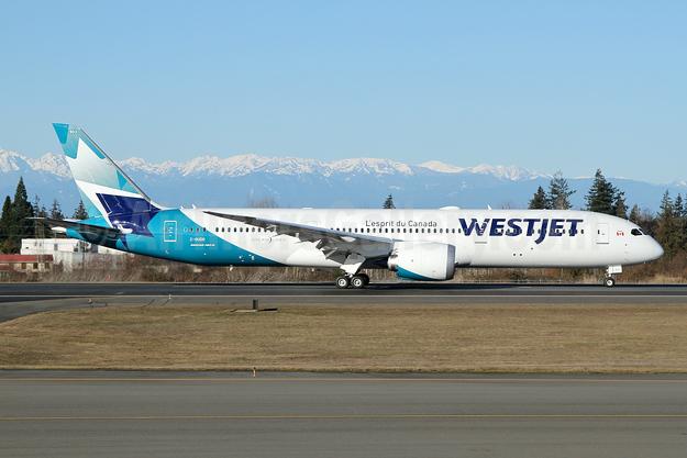 WestJet's third Boeing 787-9 Dreamliner