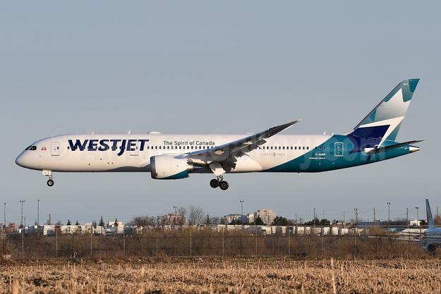 WestJet Airlines Boeing 787-9 Dreamliner C-GURP (msn 64975) YYZ (TMK Photography). Image: 947972.