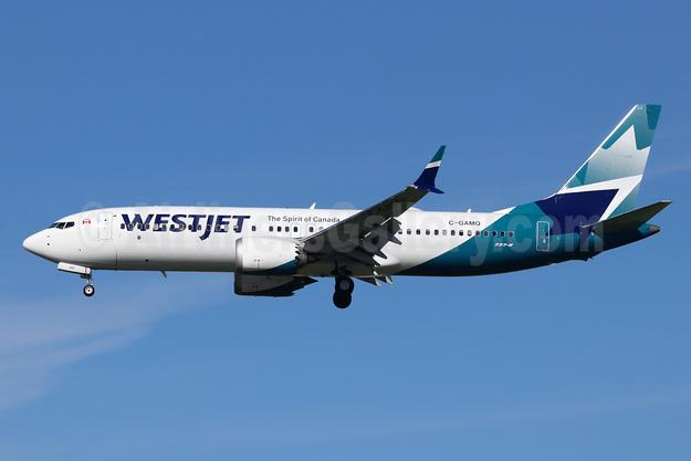 WestJet Airlines Boeing 737-8 MAX 8 C-GAMQ (msn 60518) LAX (Michael B. Ing). Image: 945350.