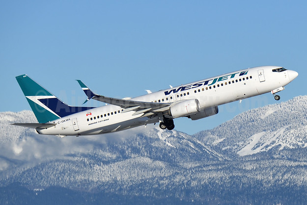 WestJet Airlines Boeing 737-8CT SSWL C-GKWA (msn 39089) YVR (Steve Bailey). Image: 936502.