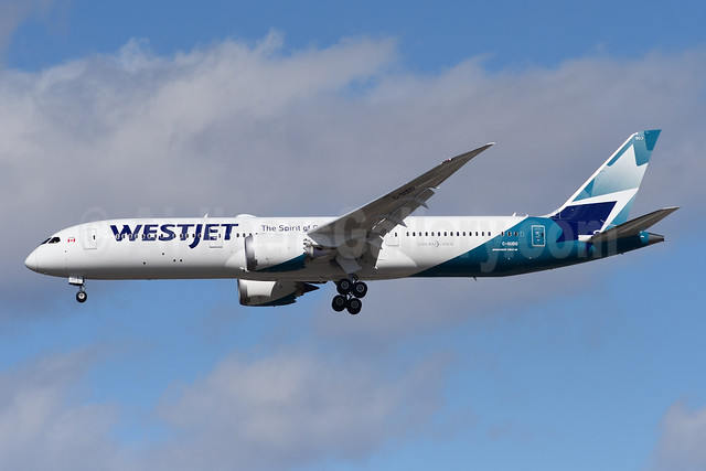 WestJet Airlines Boeing 787-9 Dreamliner C-GUDO (msn 64976) YYZ (TMK Photography). Image: 946159.