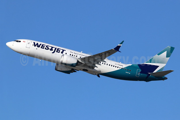 WestJet Airlines Boeing 737-8 MAX 8 C-FNWD (msn 60517) LAX (Michael B. Ing). Image: 945667.