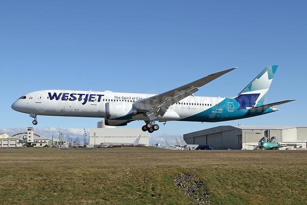 WestJet's third Dreamliner