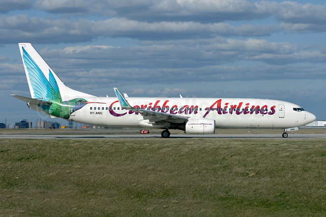 Caribbean Airlines Boeing 737-8Q8 WL 9Y-ANU (msn 28235) YYZ (TMK Photography). Image: 936316.
