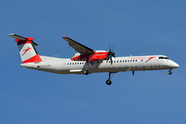 Austrian Airlines Bombardier DHC-8-402 (Q400) OE-LGH (msn 4075) BSL (Paul Bannwarth). Image: 947071.
