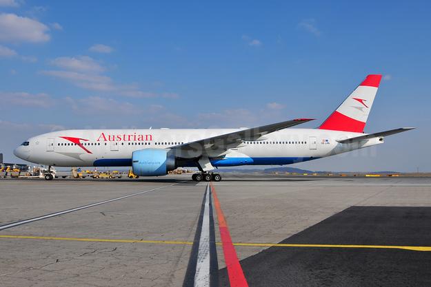 Austrian Airlines Boeing 777-2Z9 ER OE-LPA (msn 28698) VIE (Ton Jochems). Image: 955327.