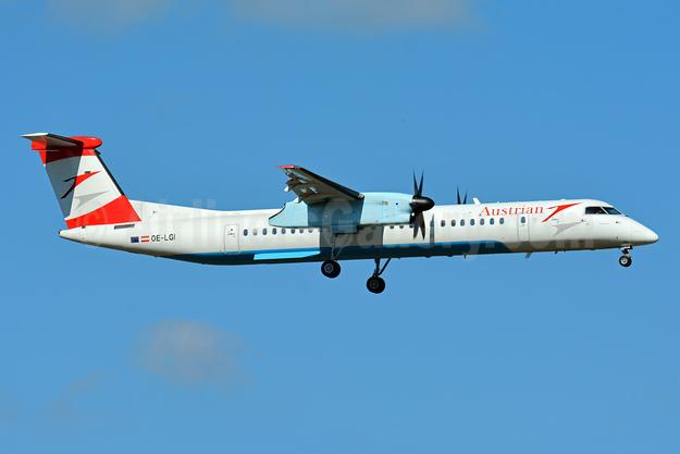 Austrian Airlines Bombardier DHC-8-402 (Q400) OE-LGI (msn 4100)  ZRH (Paul Bannwarth). Image: 922914.