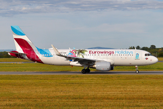 "Eurowings Europe's 2017 ""Eurowings Holidays"" special livery"