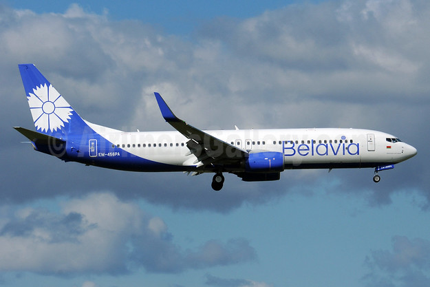 Belavia Belarusian Airlines Boeing 737-8ZM WL EW-456PA (msn 61422) AMS (Karl Cornil). Image: 938677.