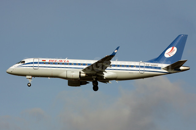 Belavia Belarusian Airlines Embraer ERJ 170-200LR (ERJ 175) EW-340PO (msn 17000350) LGW (Terry Wade). Image: 913792.