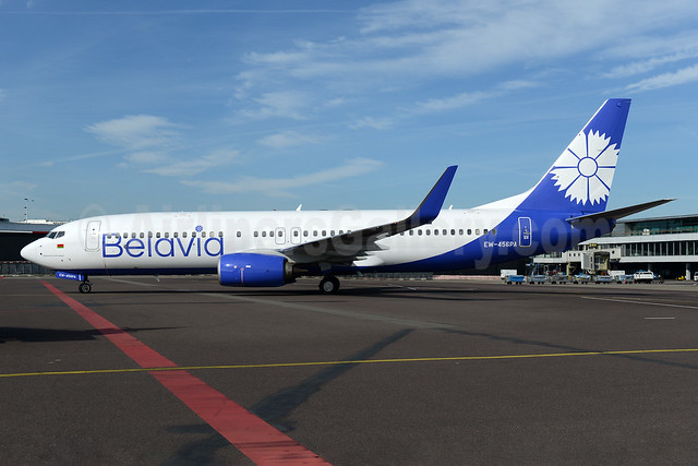 Belavia Belarusian Airlines Boeing 737-8ZM WL EW-456PA (msn 61422) AMS (Ton Jochems). Image: 937360.