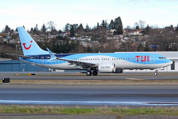 TUI's first Boeing 737-8 MAX 8, delivered on January 29, 2018