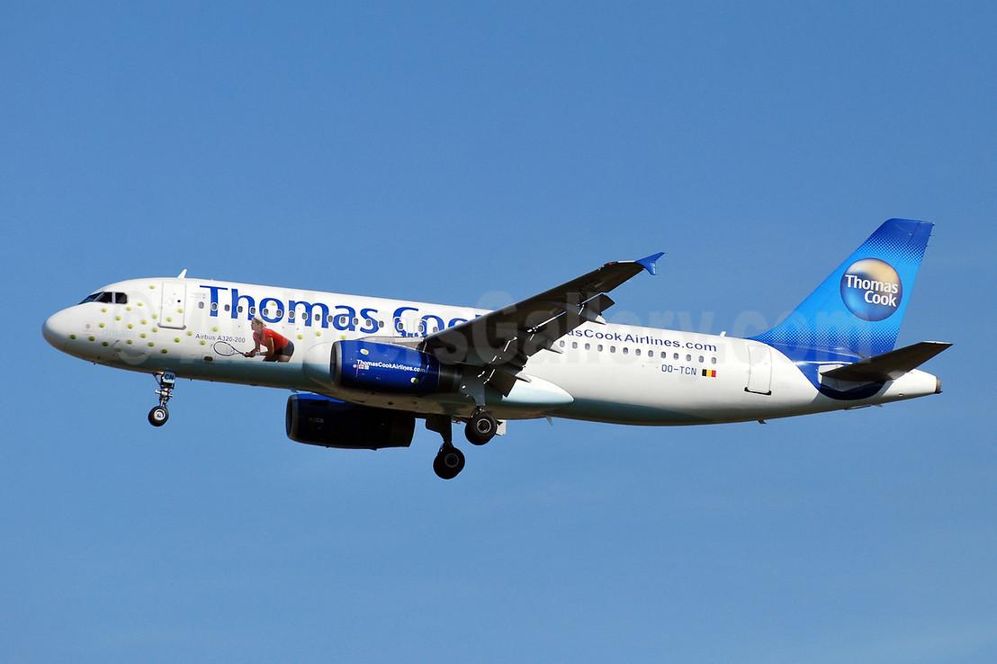Thomas Cook Airlines (Belgium) Airbus A320-232 OO-TCN (msn 425) (Kim Clijsters) BRU (Karl Cornil). Image: 904915.