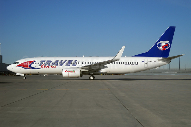 Travel Service Airlines (Czech Republic) Boeing 737-86N WL OK-TVT (msn 39394) YYZ (TMK Photography). Image: 908383.