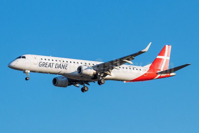 Great Dane Airlines Embraer ERJ 190-200LR (ERJ 195) OY-GDA (msn 19000213) PMI (Eurospot). Image: 955505.