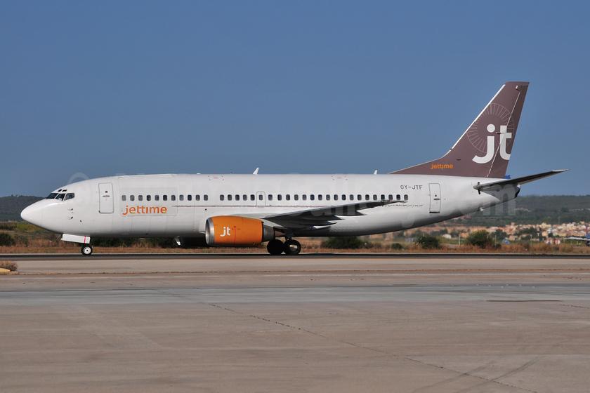 Jettime Boeing 737-382 (QC) OY-JTF (msn 24364) PMI (Ton Jochems). Image: 953351.