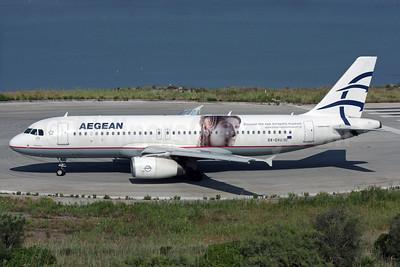 Aegean's promotional Acropolis Museum logo jet