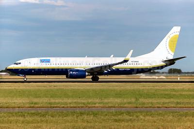 Arke (Miami Air) Boeing 737-8Q8 WL N738MA (msn 32799) (Miami Air colors) AMS (Greenwing). Image: 929155.