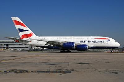 British Airways Airbus A380-841 G-XLED (msn 144) LHR. Image: 928587.