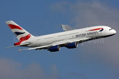 British Airways Airbus A380-841 G-XLEI (msn 173) LHR (SPA). Image: 929753.