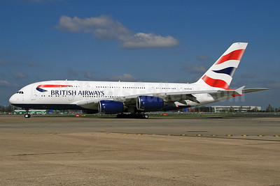 British Airways Airbus A380-841 G-XLEE (msn 148) LHR. Image: 928588.
