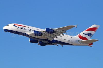 British Airways Airbus A380-841 G-XLEE (msn 148) LAX (Michael B. Ing). Image: 928795.