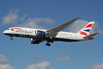 British Airways Boeing 787-8 Dreamliner G-ZBJE (msn 38612) LHR (SPA). Image: 928535.
