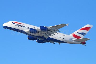 British Airways Airbus A380-841 G-XLEA (msn 095) LAX (Michael B. Ing). Image: 928793.