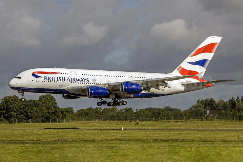 British Airways Airbus A380-841 G-XLEA (msn 095) SNN (SM Fitzwilliams Collection). Image: 913275.