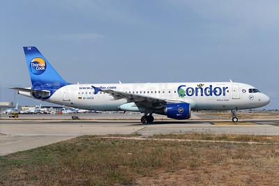 Condor Flugdienst-Thomas Cook Airbus A320-212 D-AICG (msn 957) (Janosch - Kastenfrosch and Tigerente) PMI (Ton Jochems). Image: 923489.