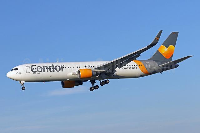 Condor Flugdienst-Thomas Cook Boeing 767-330 ER WL D-ABUA (msn 26991) BWI (Brian McDonough). Image: 933865.
